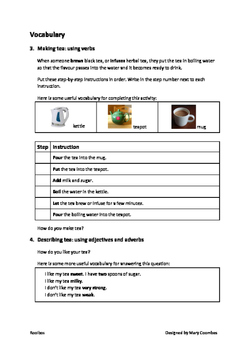 ESL Worksheets on Rooibos Tea: Reading, Vocabulary and Discussion