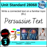 ESL - Write a Connected Text on a Familiar Topic