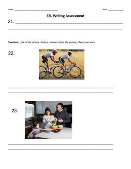 ESL Writing Assessment for Beginners