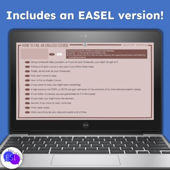 Logical Order Writing Activity