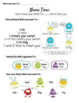 ESL Young Learners What's your name?