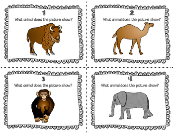ESL Zoo Animal Task Cards