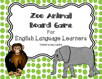 ESL Zoo Animal Vocabulary Board Game
