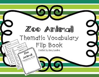 ESL Zoo Animal Vocabulary Flip Books