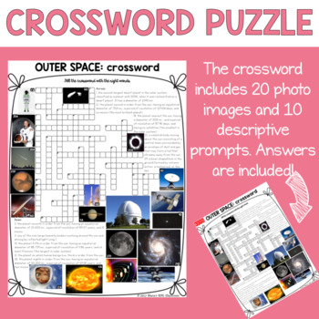 ESL Crossword puzzle about Space for teens