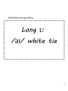 ESL activity packet for long I sound