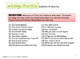 ESL and English Writing Prompts - Beginner, Intermediate,