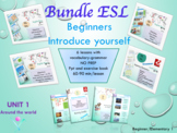 ESL back to school Bundle 1: alphabet, numbers, countries, food, likes, opinions