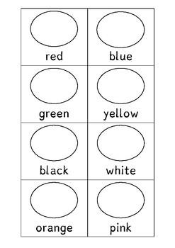 ESL basic colours (colouring)