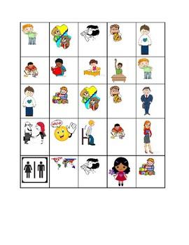 ESL basics bingo