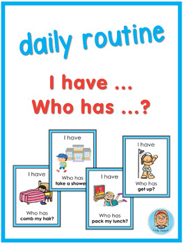 ESL daily routine  I have ... Who has ...? game