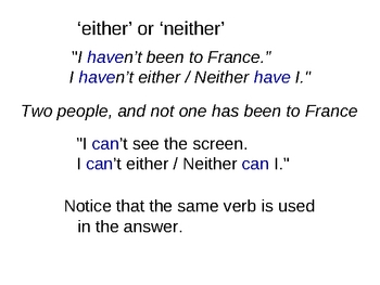 ESL either neither both powerpoint
