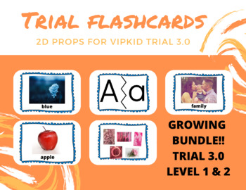 ESL flashcards -- VIPKID 2D props for Trial 3.0 Classes