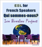 ESL for French Speakers Ice Breaker Project with Who Are We? Qui Sommes-Nous?