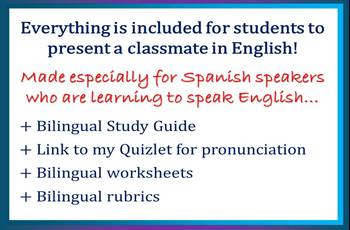 ESL for Spanish Speakers with Who Are We? Ice Breaker Project