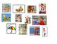 ESL kindergarten matching sentences to pictures emergent reader cut paste center