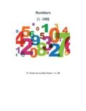 ESL lesson - Numbers