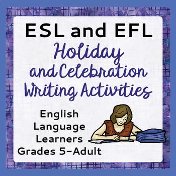 ESL Writing Activities Holidays Celebrations