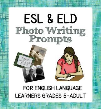 ESL BUNDLE Student Progress Holidays Celebrations Photo Prompt Activities