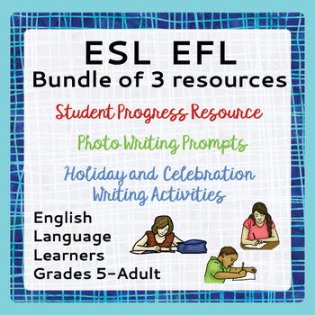ESL Bundle Student Progress Holidays Celebrations Photo Pr