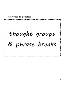 ESL phrasing practice for accent reduction