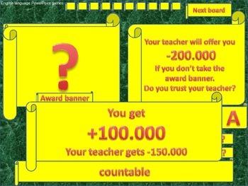 ESL powerpoint games Do you trust your teacher countable a
