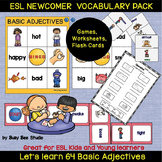 ESL resources: Basic Adjectives (opposites) Vocabulary Newcomer Pack