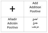 Arabic/Spanish/English math printables