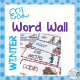 ESL winter word wall