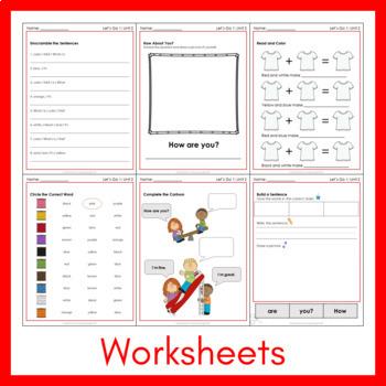 Let's Go 1 - Unit 2 Worksheets (+210 Pages!)