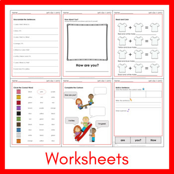 Let's Go 1 - Unit 2 Worksheets (+210 Pages!)