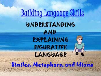ESL/ELL BUILDING LANGUAGE ~ SIMILES, METAPHORS, IDIOM ELA TEST PREP ~ PROMETHEAN