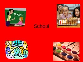 ESL/ELL English School Vocabulary Power Point ppt