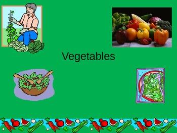 ESL/ELL English Vegetable Vocabulary Power Point ppt