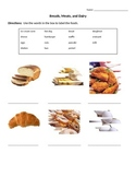 ESL/ELL Newcomer - Breads, Dairy, Meats