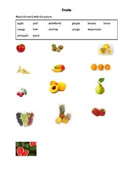 ESL/ELL Newcomer - Fruits