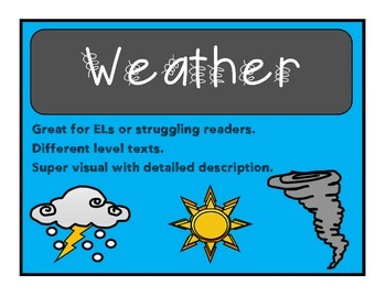 ESOL All About Weather Reading & Writing exploration packet
