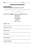 ESL / ESOL Capital Letters Periods and Question Marks Review Worksheet