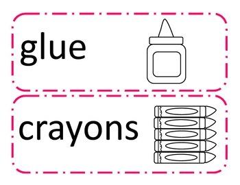 ESOL Classroom Labels (Black/White & Color)
