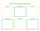 ESOL Coordinator Pacing Guide