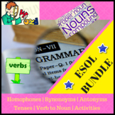 ESOL / ESL BUNDLE - Verb To Be, Synonyms, Antonyms, Homophones, Nouns and more