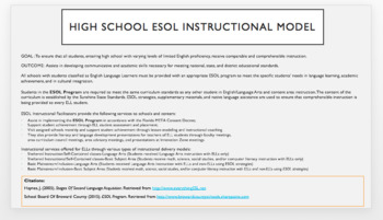 ESOL/ESL Category III Information For Teachers