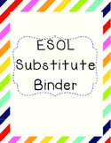 ESOL ESL Substitute Binder Forms and Covers