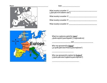 ESOL European Explorers study guide with Spanish support and assessment