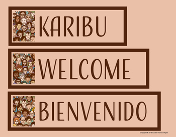 ESOL Multilingual Welcome Sign 15 Languages - Spanish Chin