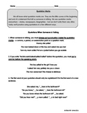 ESL / ESOL Quotation Marks Worksheet