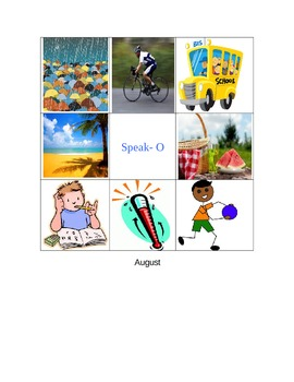 ESOL Speak-O boards-Monthly
