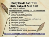 ESOL Study Guide for Subject Area Exam