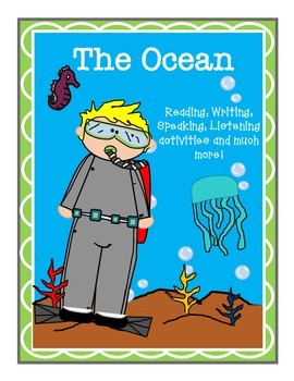 ESOL The Ocean Interactive reading and writing packet k-4