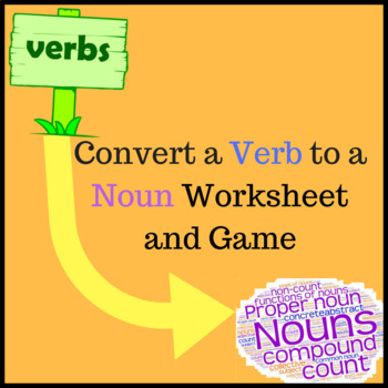 ESOL Verb to Noun Activity and Mix N Match game